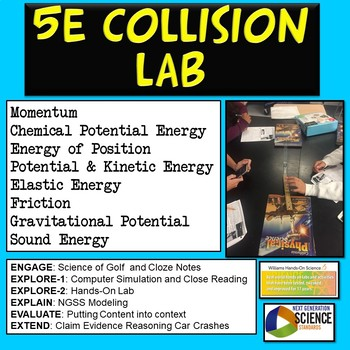 5E NGSS Collision Lab: Relationship between Motion and Forces
