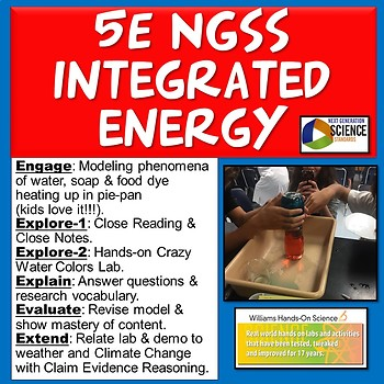 5E NGSS Integrated Energy Lab (Heat Transfer: Conduction, Convection, Radiation)