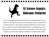 5E Science Inquiry Activity: Dinosaur Footprints