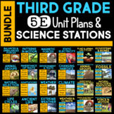 5E Unit Plans AND Science Stations BUNDLE for Third Grade