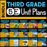 5E Unit Plans BUNDLE for Third Grade