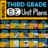 5E Unit Plans BUNDLE for Third Grade