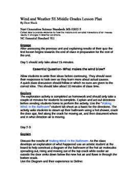 5E Wind and Weather Lesson Plan