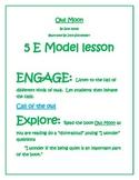 5E model for Literacy ~~ Owl Moon by Jan Yolen