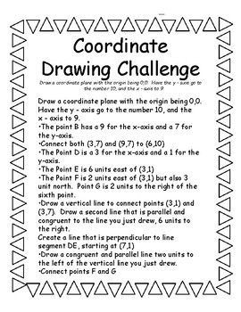5.G.A.1 Coordinates Activity - Drawing Challenge