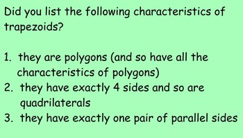 5.G.3 and 5.G.4 Intro to Polygons and The Quadrilateral Family(NOT for PARCC)