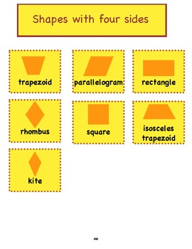 5.G.4 Fifth Grade Common Core Worksheets, Activity, and Poster