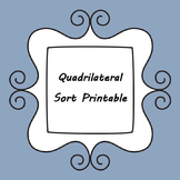 Quadrilateral Sort Printable - Interactive Notebook