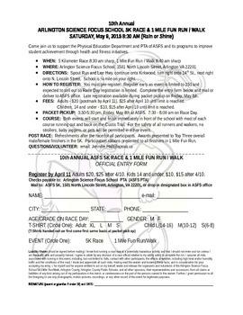 5K Registration Form
