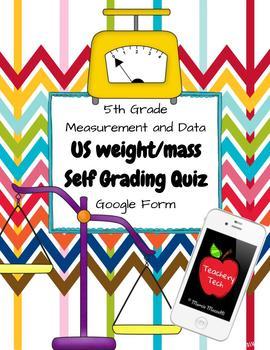 US Customary System Self Grading Quiz BUNDLE