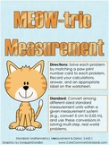 5.MD.1 Fifth Grade Common Core Worksheets, Activity, and Poster