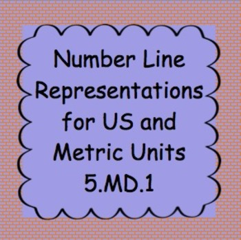 5.MD.1 Number Line Representations of Measurement Units