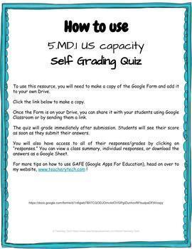US Capacity Self Grading Quiz