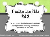 5.MD.2 Fraction Line Plots - Set 2