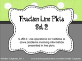 5.MD.2 Fraction Line Plots - Set 2