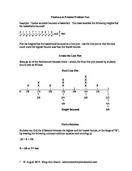 5.MD.B.2 More Line Plots Using Fractions to 1/8 of a Whole