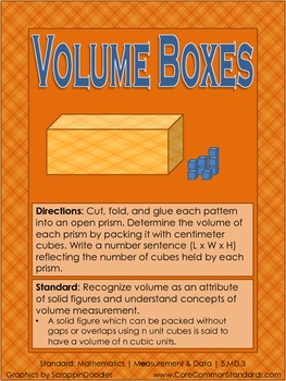 5.MD.3 Fifth Grade Common Core Worksheets, Activity, and Poster