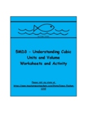 5MD3 - Understanding Cubic Units and Volume - Worksheets and Activity