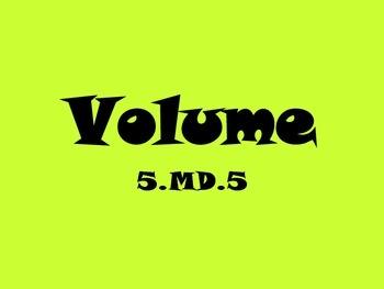 5.MD.5 Volume