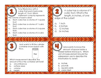 5.MD.C.3, 5.MD.C.3a, and 5.MD.C.3b Task Cards