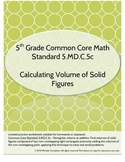 5.MD.C.5c Volume of Solid Figures Worksheet