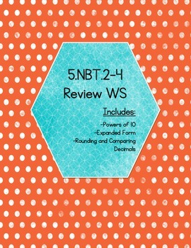 5.NBT.2-4 Review WS (Version 1) - (KEY INCLUDED)