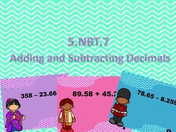 5NBT.7 Adding and Subtracting Decimals