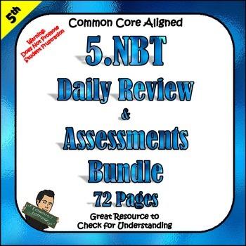 5th Grade 5NBT 5 NBT Tests Math Morning Work, Homework, Class Work ...