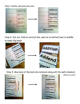 5NBT Math Vocabulary Flip Books