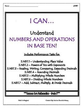 5.NBT Performance Tasks Bundle - CCSS