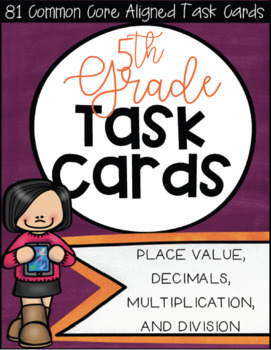 5NBT CCSS Standard Based Task Card Bundle - Includes All NBT Standards!