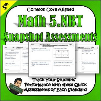 5th Grade 5NBT Tests - Snapshot Assessments