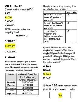 5.NBT.1-4 Test (KEY INCLUDED)