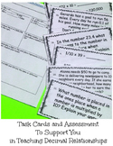 5.NBT.A.1- Task Cards and Assessment for Multiplying by 10 and 1/10