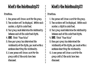 5.NBT.1 Activity - What's the Relationship?
