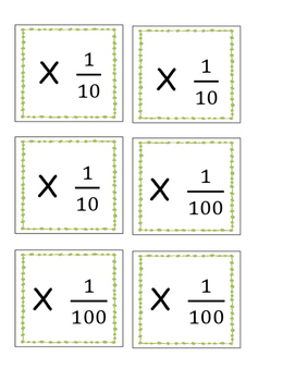 5.NBT.A.1 - Game - A Maze of Zeros (Multiply by 10, 100, 1/10, 1/100)