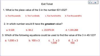 5.NBT.1 SMART Board Lessons [46 Slides, ~1 week of instruction]