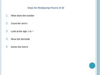 5.NBT.2  Powers of 10 PowerPoint