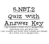 5.NBT.2. Quiz
