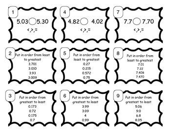 5.NBT.3& 4 Comparing, Ordering, & Rounding Decimals SCOOT