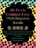 5.NBT.3 5th Grade Common Core Math Resource Bundle- Read Write Compare Decimals