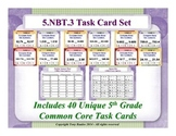 5.NBT.3 5th Grade Math Task Cards - 5 NBT.3 Compare Decimals To Thousandths