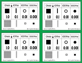 5NBT3 Comparing Decimals *QR* MATH TASK CARDS