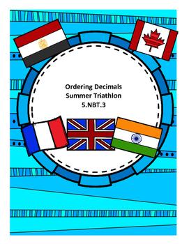 5.NBT.3 Ordering Decimals with a Summer Triathlon