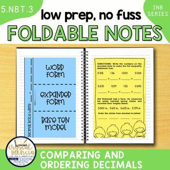 5NBT3 Read, Write, & Comparing Decimal Numbers (Interactive Notebook Series)