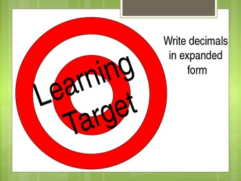 5.NBT.3a  decimals in expanded form powerpoint