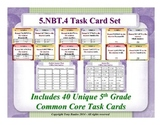 5.NBT.4 5th Grade Math Task Cards - 5 NBT.4 Round Decimals To Any Place