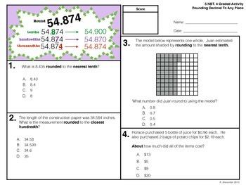 5.NBT.4 Graded Activity - Round To The Nearest Decimal