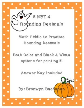 5.NBT.4 Round Decimals Math Riddle
