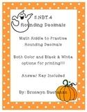 5.NBT.4 Round Decimals Math Riddle